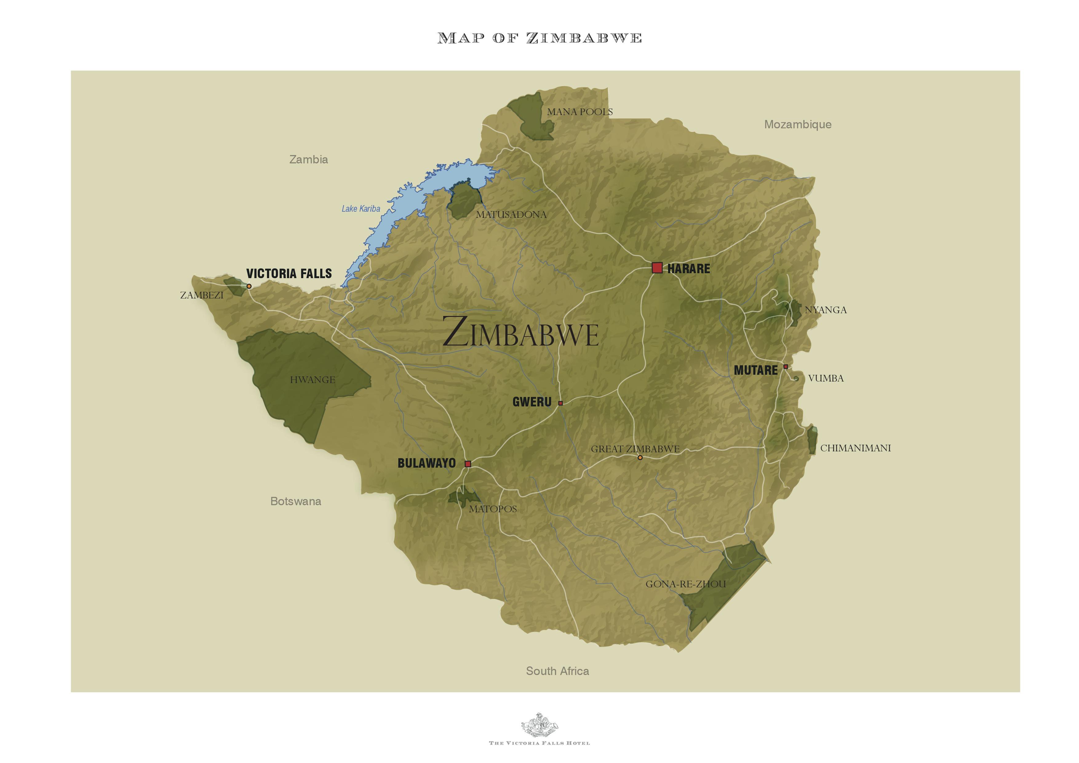 Zimbabwe The Victoria Falls Hotel